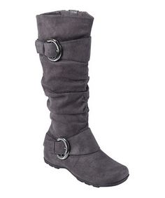 WANT! These boots were made for walking—down that catwalk that is! Boasting a slouchy shaft and bright buckle accents, this runway-ready pair is bursting with fashion-forward flair.