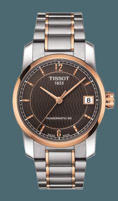 82164a8de Tissot Titanium Ladies watch has automatic movement, black dial and titanium  bracelet and case. Shop the Tissot Swiss made women's titanium automatic  watch.