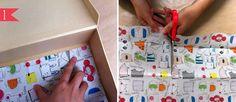 DIY-paso a paso, cómo decorar las maletas de cartón http://idoproyect.com/blog/diy-maleta-craft/