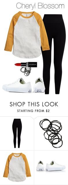 """Cheryl Blossom - Riverdale"" by shadyannon ❤ liked on Polyvore featuring Pepper & Mayne, Monki, Converse and Smashbox"