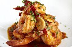 Jose Andres' Gambas al Ajillo: sauteed shrimp with garlic & guindilla pepper #recipe