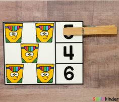 These Back-to-School Counting Clip Cards are a fun and hands-on way to practice counting and identifying numbers at the beginning of the year. Kindergarten Teachers, Kindergarten Activities, Preschool Learning, Early Learning, Teaching Calendar, School Must Haves, Teacher Boards, Math Centers, Counting