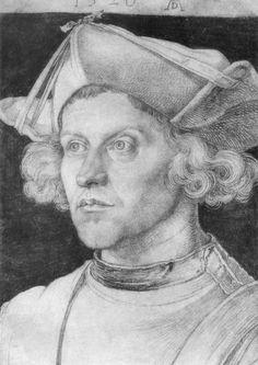 Artist: Dürer, Albrecht, Title: Porträt eines jungen Mannes [6], Date: 1520