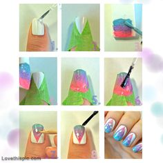 DIY Nails Art nails nail diy craft pretty nails crafts nail ideas nail designs nail crafts diy nails easy diy