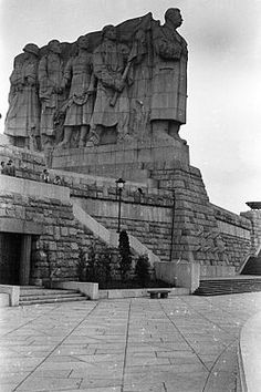 Stalin's Monument was a massive granite statue honoring Joseph Stalin that was unveiled in 1955 after more than 5½ years of work in Prague, Czech Republic. It was the world's largest representation of Stalin, and was destroyed in 1962.