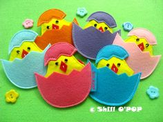 Easter toy Baby Chick in Eggshells Matching Game PDF por ShillOPOP, $1.20