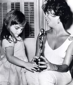 Elizabeth Taylor and daughter, Liza Todd .....Uploaded By www.1stand2ndtimearound.etsy.com