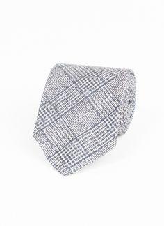 Heirloom Textured Check Tie - Navy