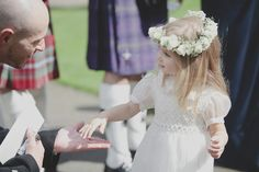 cutest flower girl ever? // photo by Mirrorbox Photography Wedding Flower Girl Dresses, Flower Girls, Wedding Stuff, Wedding Photos, Dream Wedding, Scottish Flowers, Wedding Inspiration, Wedding Ideas, Flower Headpiece