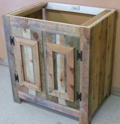 Reclaimed Wood Rustic Bathroom Vanity - made with pallets
