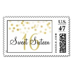 Elegant Sweet 16 Faux Gold Foil Glitter Lights