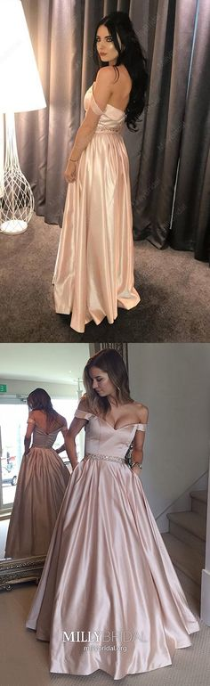 Ball Gown Prom Dresses Long, 2019 Champagne Formal Evening Dresses With Pockets, Satin Military Ball Dresses Off The Shoulder, Modest Pageant Graduation Party Dresses Beading Prom Girl Dresses, Prom Dresses For Teens, Best Prom Dresses, Cheap Prom Dresses, Party Dresses, Formal Dresses, Wedding Dresses, Prom Dresses With Pockets, Wedding Dress With Pockets