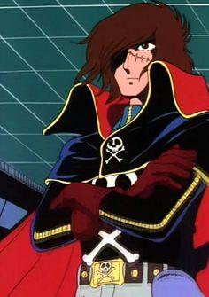Space Pirate Captain Harlock, Sea Of Stars, Captain My Captain, Manga, Anime, Powerpuff Girls, I Movie, Old School, Pirates