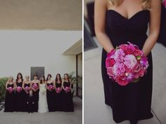 Pink and black wedding idea