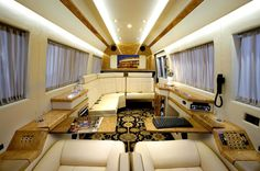 Inside of a Mercedes Benz Sprinter Jet Van--Wow! (and I'm not a fan of vans, but I'd totally ride in this one)!