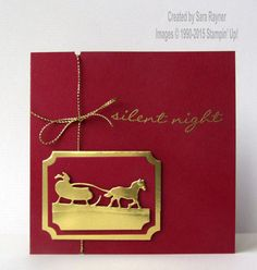 handmade Crhistmas card ... gold sleigh ride ... gold foil die cuts ... burgundy red card ... elegant look ... Stampin' Up!
