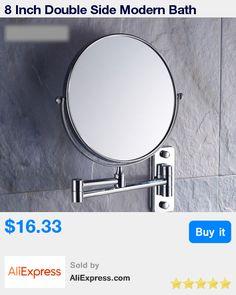 8 Inch Double Side Modern Bath Mirrors Shave Makeup Extend Arm 3x Magnifying Espelho Do Banheiro Bathroom Sanitary Accessories * Pub Date: 04:33 Apr 16 2017