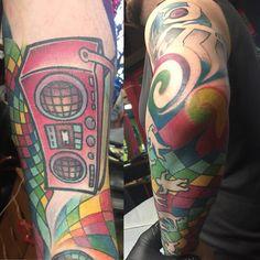 Photo by (yoyojunkie) on Instagram | #djpon3tattoo #colorfultattoo #pdxtattoo #portlandoregon Colorful Tattoos, First Tattoo, Color Tattoo, Tattoo Designs, Inspiration, Instagram, Color Tattoos, Biblical Inspiration, Tattooed Guys