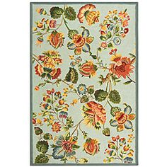 Hand-hooked Oasis Light Blue Wool Rug (7'9 x 9'9)   Overstock.com Shopping - Great Deals on Safavieh 7x9 - 10x14 Rugs