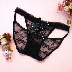Women's Sexy Underwear Lace Briefs Panties Bowknot Underpant Lingerie Bikini