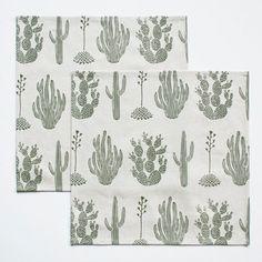 Ensemble de deux serviettes Cactus vert par ameliemancini sur Etsy