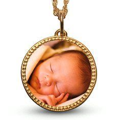 Give Mom a precious gift-one of our new Gold Custom Photo Necklaces #jewelry www.kathlo.com