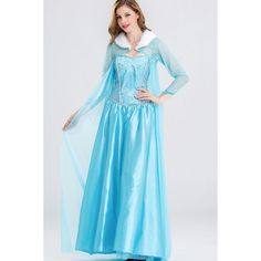Light Blue Frozen Elsa Princess Dress Cosplay Costume (39 CAD) ❤ liked on Polyvore featuring costumes, sexy costumes, blue costumes, cosplay costumes, role play costumes and princess costumes