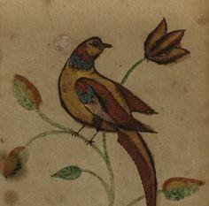 Dated 1823 Pennsylvania Folk Art Fraktur Song Bird Painting By Susanna Hershey #FolkArt