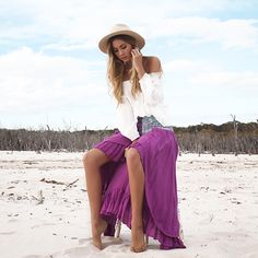 VALENTINA GYPSY SKIRT Lokoa Leather #gypsy #boho #style