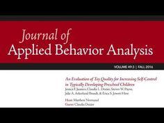 Journal of Applied Behavior Analysis - YouTube