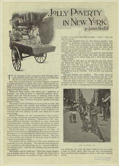1897 article about poverty in New York.  / For teaching ALL OF A KIND FAMILY by Sydney Taylor / To get unique hands-on literature activities, ideas, tips, and DIY LitWits Kits, visit http://www.litwitsworkshops.com/free-resources/