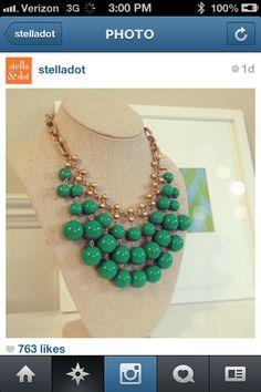 The Jolie! A perfect St. Patrick's Day accessory! www.stelladot.com/angelaoldfield