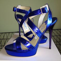 Metallic blue love!!