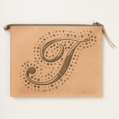 #custom #Cute Themed #gifts #hearttravelpouch #esoticadesigns -  Monogram I Leather Travel Pouch