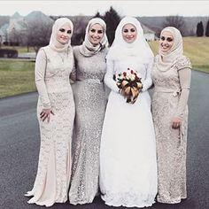 beautiful, bride, and bridesmaids Bild