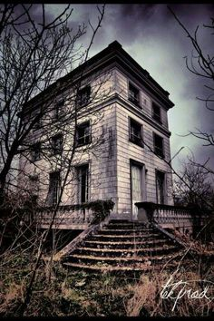 Abandoned gothic old house