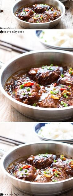 ASIAN STYLE STICKY GINGER CHICKEN THIGHS is better than any chinese takeout you can get. It's ready in half an hour if you marinate the chicken earlier and gets cooked in one pot.