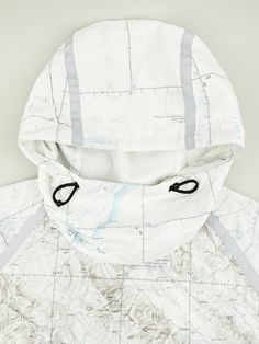 Stunning design. Map Print Windcheater by Christopher Raeburn