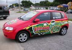 pizza vehicle wrap