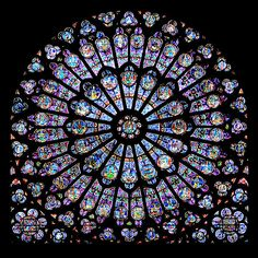 From Wikiwand: Rayonnant rose window in Notre Dame de Paris. In Gothic architect… From Wikiwand: Rayonnant rose window in Notre Dame de Paris. In Gothic architecture, light was considered the most beautiful revelation of God. Medieval Stained Glass, Stained Glass Church, Stained Glass Art, Stained Glass Windows, Mosaic Glass, Dossier Photo, L'art Du Vitrail, Saint Chapelle, Rose Window