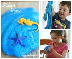 how to make ocean slime or sea slime