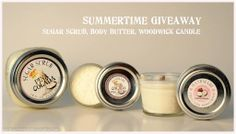 Enter to #win a Pina Colada Sugar Scrub, Pina Colada Body Butter, and a Tropical Coconut Woodwick Candle.