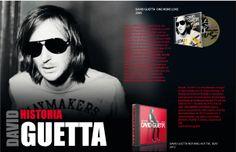 Publicidad e historia de David Guetta de las herramientas photoshop and ilustrator