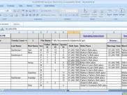 Main Tab Data Input Area & GEDCOM Creating Macro Button - Excel genealogy spreadsheet with macro for converting data to gedcom format