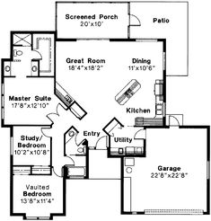 1600ish sqft - could cut down a few places Florida Level One of Plan 69343