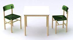 Chaise Trattoria Chair / Plastique & bois Bleu - Magis