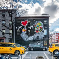 We ❤️ New York. (📷 Noel YC Mural by Eduardo Kobra at St and Avenue in Chelsea, Manhattan - New York City Feelings Manhattan New York, Brooklyn New York, Chelsea Manhattan, New York Life, New York Art, Central Park, Empire State Building, North And South, Nyc Real Estate