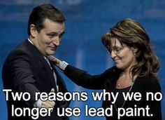 Two reasons why we no longer use lead paint! Just look at these two brain dead idiots.