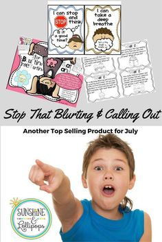 "n the beginning of the school year many children need reminders about blurting and calling out especially in the primary grades. So I am sure that you will find this resource very helpful with these types of behaviors. Take a look. I know you will love these ideas and strategies included plus the scenarios that can be used to practice appropriate behaviors. This resource can be used with ""My Mouth is a Volcano"" and other stories that touch on the topic of calling out! YOU will LOVE it!"