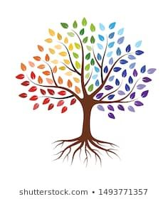 Abstract tree with roots and colorful leaves. Isolated on white background. - Buy this stock vector and explore similar vectors at Adobe Stock Tree Of Life Pictures, Multiple Exposure, Tree Roots, Wedding Background, Mosaic Projects, Plant Illustration, Abstract Images, Diy Arts And Crafts, Color Of Life